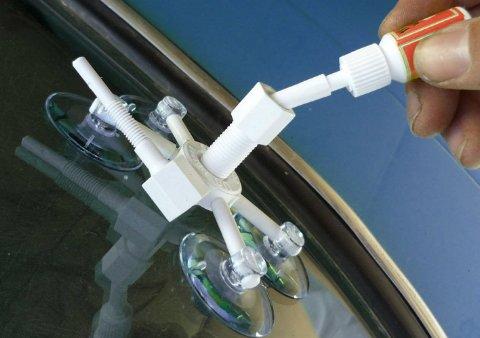 Как сделать ремонт трещин на лобовом стекле авто своими руками?