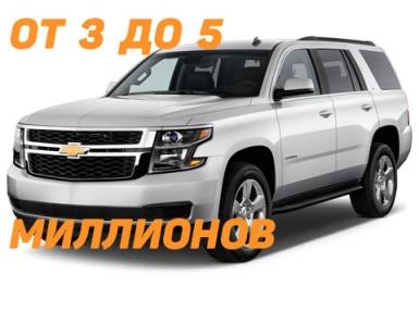 Автомобили стоимостью от 3 до 5 миллионов рублей, попадающие под налог на роскошь в 2016 году